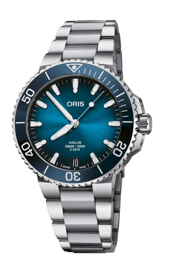 Oris Aquis Date calibre 400 01 400 7769 4135-07 8 22 09PEB - Gioielleria Casavola Noci - orologio automatico uomo subacqueo antimagnetico