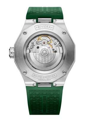Baume et Mercier Riviera M0A10618 - Gioielleria Casavola Noci - orologio automatico uomo verde - fondello