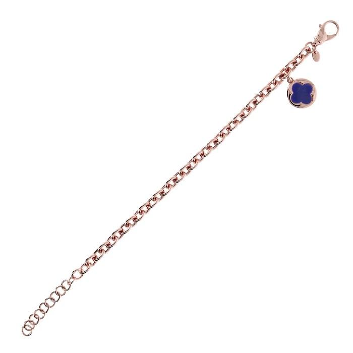 Bracciale quadrifoglio Bronzallure WSBZ00912LA - Gioielleria Casavola Noci - idee regalo donne per ogni occasione - steso - oggetto portafortuna