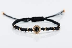 Bracciale tessuto oro rosa diamanti Invisible - Gioielleria Casavola Noci - idee regalo giovani
