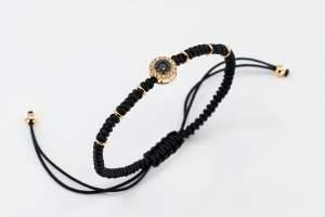 Bracciale tessuto oro rosa diamanti Invisible - Gioielleria Casavola Noci - idee regalo per giovani - gioielli ragazzi - main