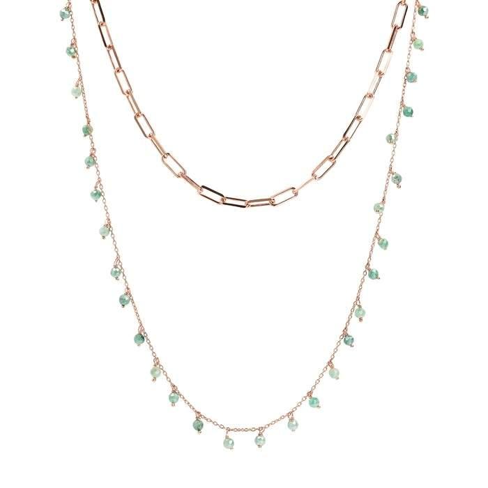 Collana due fili Bronzallure WSBZ01919EMO - Gioielleria Casavola Noci - modello rosario - idee regalo donne per occasioni importanti - main