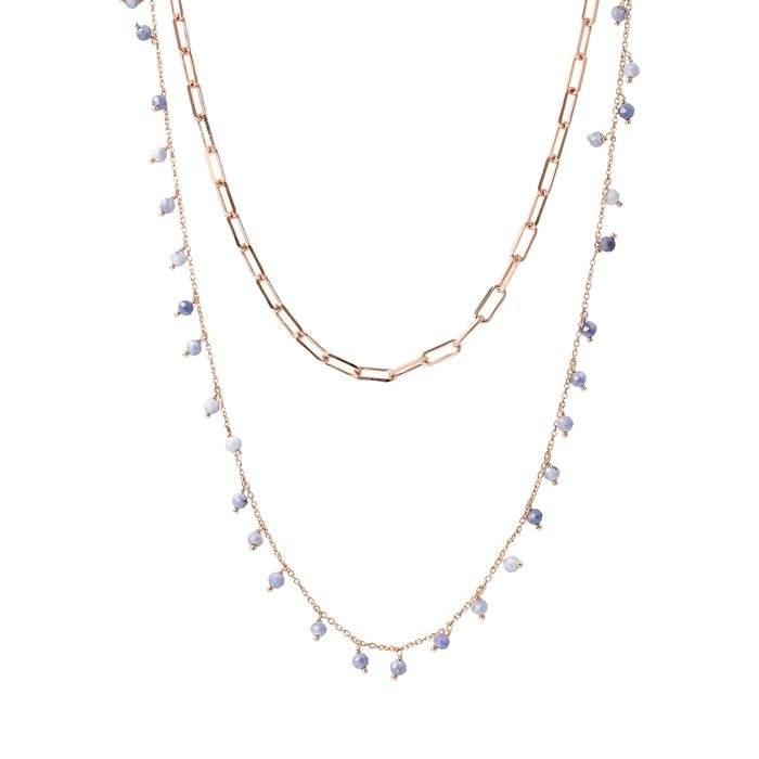 Collana due fili Bronzallure WSBZ01919SPMO - Gioielleria Casavola Noci - modello rosario - idee regalo donne per ogni occasione - main