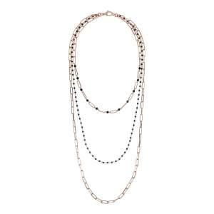 Collana tre fili Bronzallure WSBZ01881BS - Gioielleria Casavola Noci - idee regalo donne per ogni occasione - completa - gioiello rock