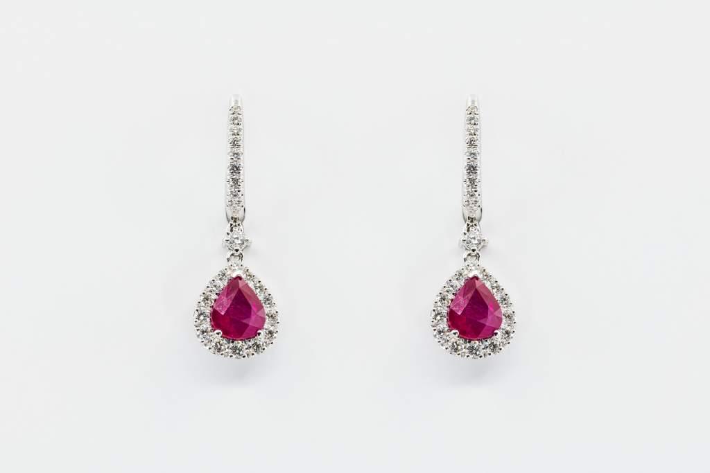 Crivelli orecchini goccia rubini - Gioielleria Casavola Noci - idee regalo donne - per ogni occasione