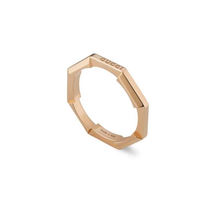 Gucci Jewelry YBC662194002 - Gioielleria Casavola Noci - anello fedina in oro rosa - idee regalo donne