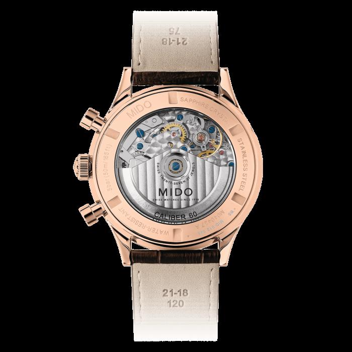 Mido Multifort Patrimony cronografo M040.427.36.042.00 - Gioielleria Casavola di Noci - Gioiellieri dal 1882 - orologio automatico uomo - fondello