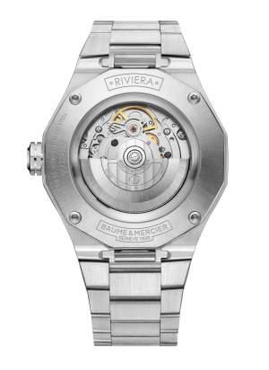 Baume et Mercier Riviera M0A10620 - Gioielleria Casavola Noci - orologio automatico uomo quadrante blu - fondello