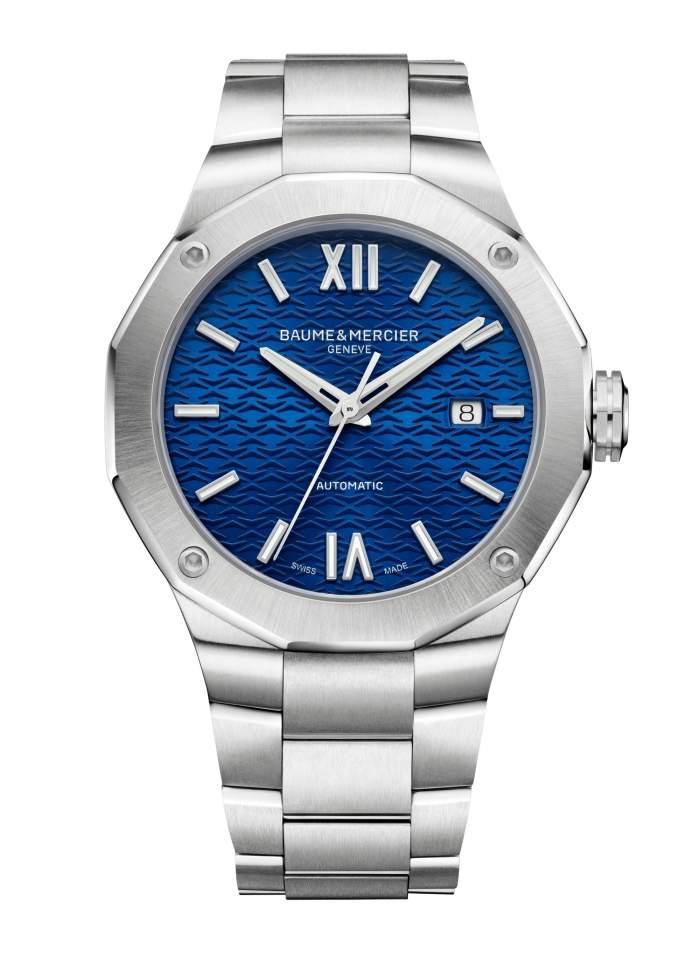 Baume et Mercier Riviera M0A10620 - Gioielleria Casavola Noci - orologio automatico uomo quadrante blu - main