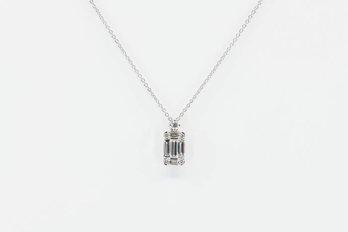 Crivelli collana fantasia diamanti baguette - Gioielleria Casavola Noci - idee regalo donne per ogni occasione