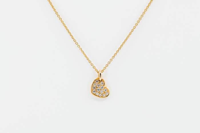 Crivelli girocollo cuore oro rosa - Gioielleria Casavola Noci - collana oro rosa con diamanti - idee regalo donne