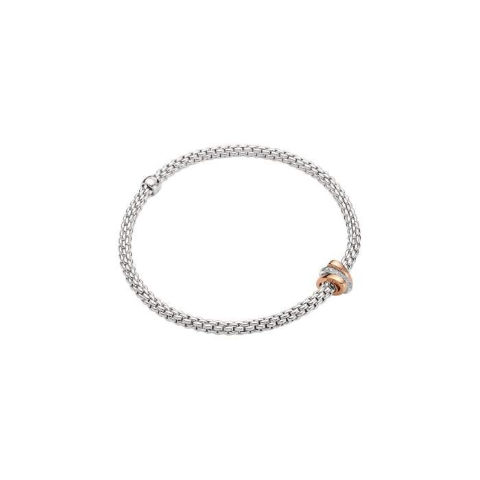 Fope Flex it bracciale Prima oro bianco 744B BBRM - Gioielleria Casavola Noci - idee regalo donne per occasioni importanti