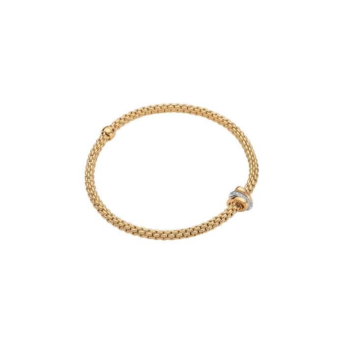Fope Flex it bracciale Prima oro giallo 744B BBRM - Gioielleria Casavola Noci - idee regalo donne per occasioni importanti