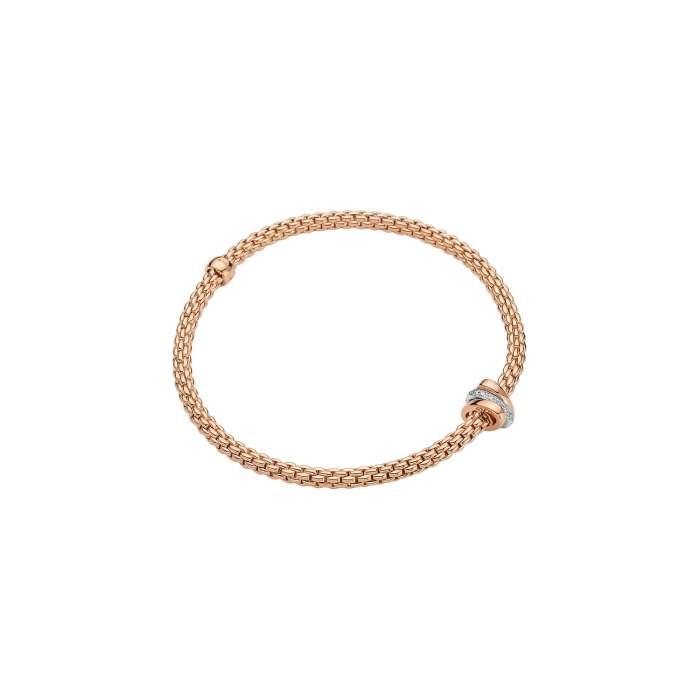 Fope Flex it bracciale Prima oro rosa 744B BBRM - Gioielleria Casavola Noci - idee regalo donne per ogni occasione