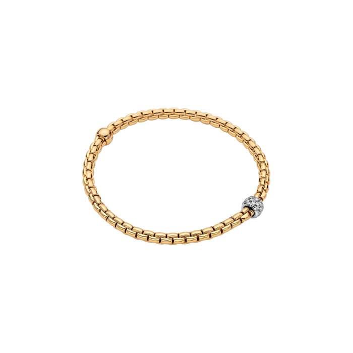 Fope bracciale Flex it Eka oro giallo 733BPAVE - Gioielleria Casavola Noci - idee regalo donne