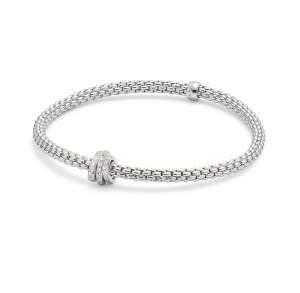 Fope bracciale Flex it Prima oro bianco 7448 - Gioielleria Casavola Noci - idee regalo donne - diamanti
