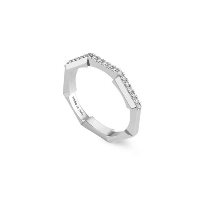 Gucci Jewelry YBC662140001 - Gioielleria Casavola Noci - anello oro bianco diamanti donne