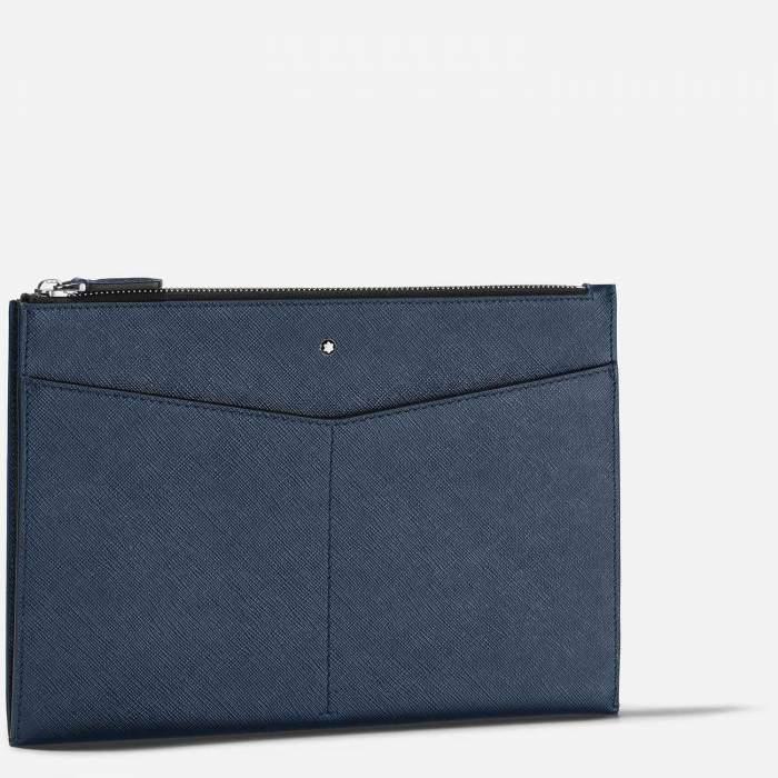 Montblanc Sartorial borsello 128571 - Gioielleria Casavola Noci - idee regalo unisex - pochette blu