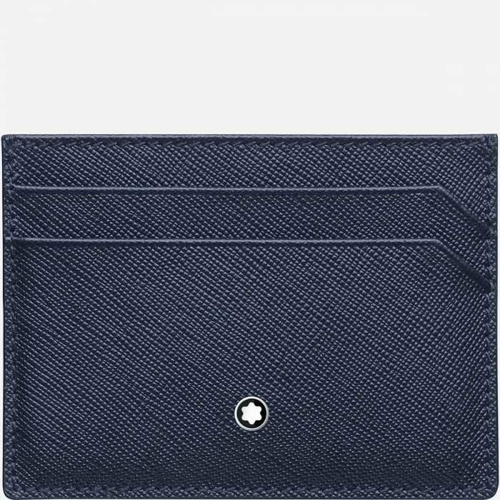 Montblanc portacarte Sartorial 128596 - Gioielleria Casavola Noci - idee regalo uomo in pelle - colore blu