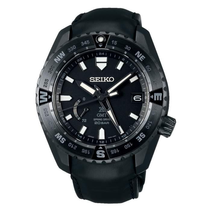 Seiko Prospex LX Line SNR027J1 - Gioielleria Casavola Noci - orologio GMT automatico uomo - color nero - titanio