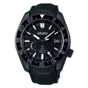 Seiko Prospex LX Line SNR035J1 - Gioielleria Casavola Noci - orologio automatico GMT uomo - cinturino coccodrillo