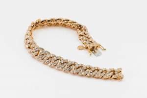 Bracciale groumette oro rosa Prestige - Gioielleria Casavola Noci - cuban link chain - undici carati e mezzo