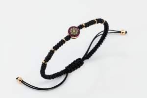 Bracciale tessuto oro rosa diamanti brown rubini Invisible - Gioielleria Casavola Noci - idee regalo 18 anni - gioielli per giovani