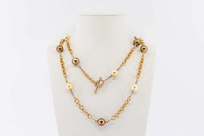 Collana perle oro rosa Prestige - Gioielleria Casavola Noci - idee regalo donne - perle australiane - perle indonesiane - main