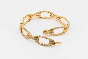 Crivelli bracciale maglia fantasia oro rosa - Gioielleria Casavola Noci - idee regalo donne - high end diamonds jewlery