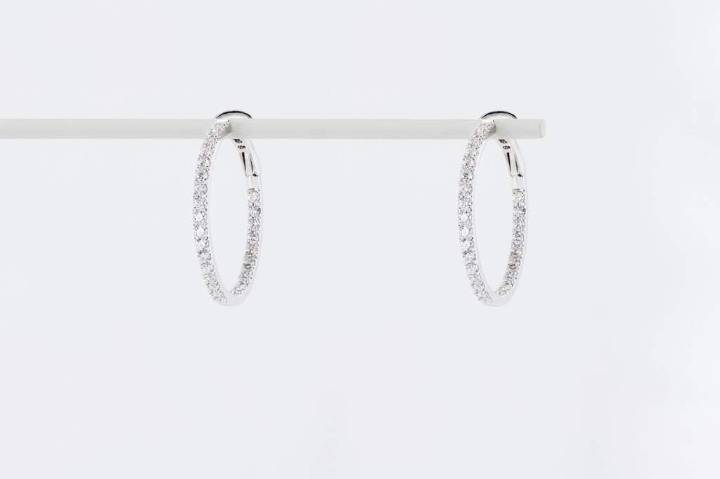 Crivelli orecchini cerchio oro bianco pavé piccoli - Gioielleria Casavola Noci - idee regalo donne