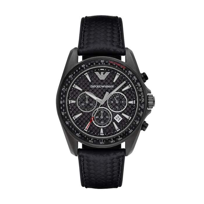 Emporio Armani Orologi AR6122 - Gioielleria Casavola Noci - cronografo uomo acciaio nero - main