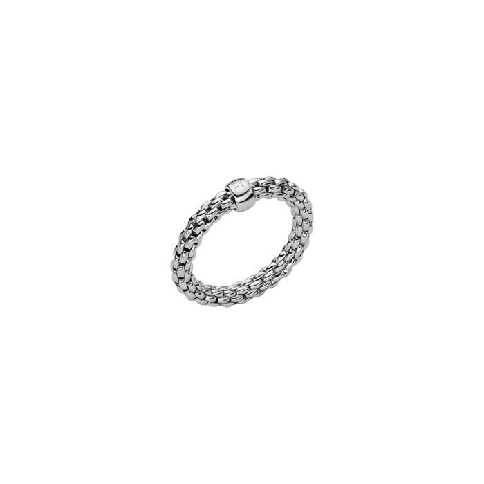 Fope anello Flex it Essentials oro bianco AN04 - Gioielleria Casavola Noci - idee regalo donne - gioiello flessibile