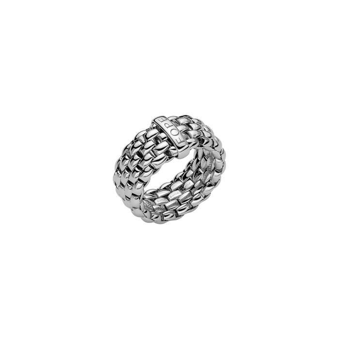 Fope anello Flex it Essentials oro bianco AN05 - Gioielleria Casavola Noci - idee regalo donne - gioiello flessibile