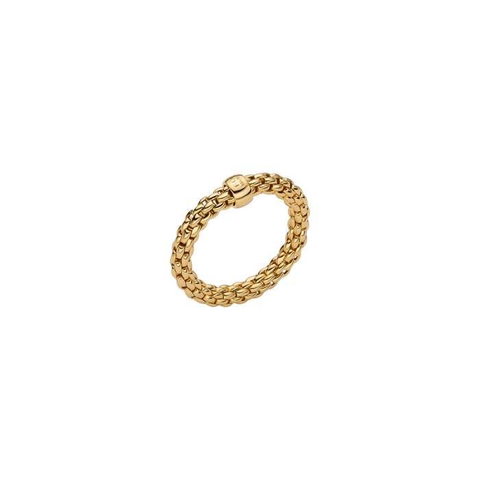 Fope anello Flex it Essentials oro giallo AN04 - Gioielleria Casavola Noci - idee regalo donne - anello flessibile