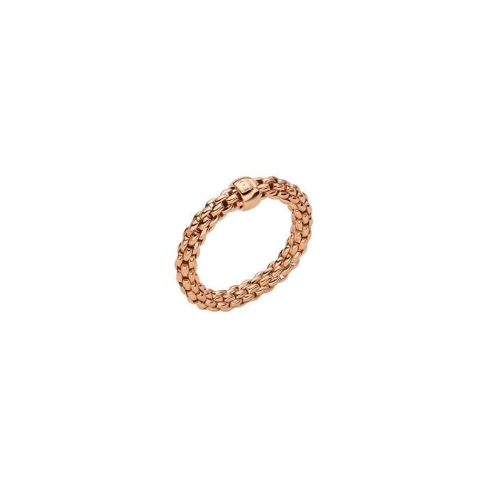Fope anello Flex it Essentials oro rosa AN04 - Gioielleria Casavola Noci - idee regalo donne - gioiello flessibile