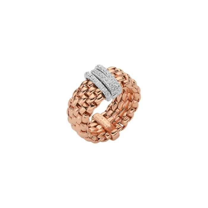 Fope anello Panorama Flex'it oro rosa AN587PAVEM - Gioielleria Casavola Noci - idee regalo donne - flexible ring