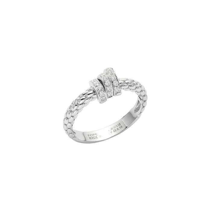 Fope anello Prima oro bianco AN743PAVE - Gioielleria Casavola Noci - idee regalo donne - diamanti