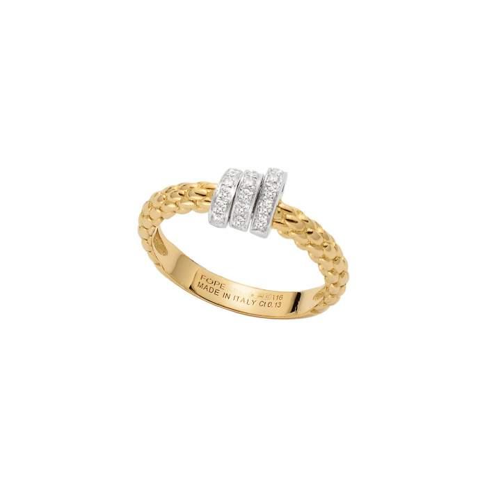 Fope anello Prima oro giallo AN743PAVE - Gioielleria Casavola Noci - idee regalo donne - diamanti