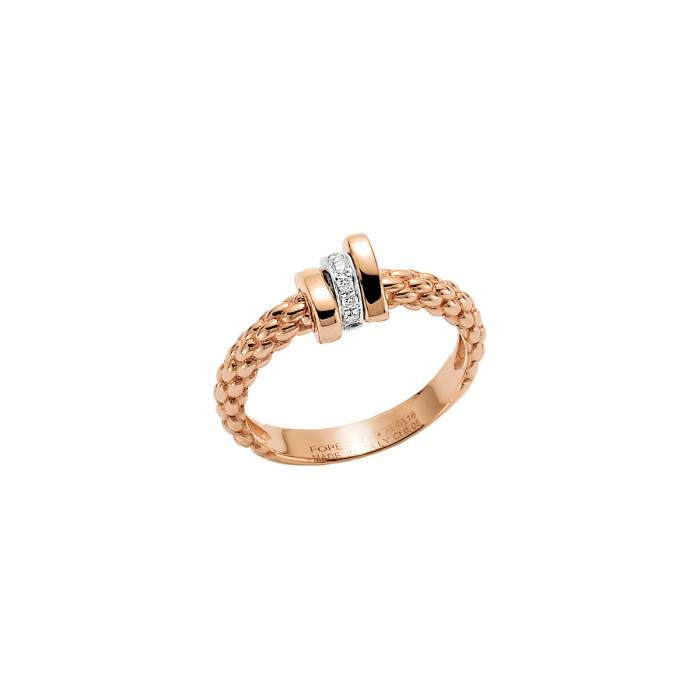 Fope anello Prima oro rosa AN743-BBR - Gioielleria Casavola Noci - idee regalo donne - diamanti