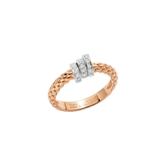 Fope anello Prima oro rosa AN743PAVE - Gioielleria Casavola Noci - idee regalo donne - diamanti