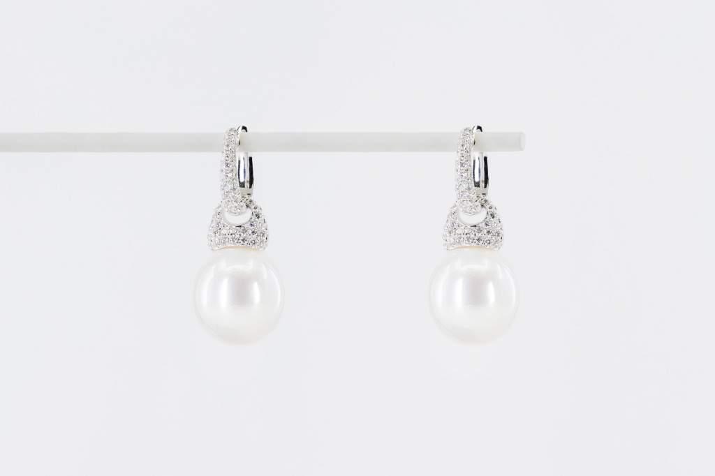 Orecchini perle australiane diamanti Prestige - Gioielleria Casavola Noci - idee regalo donne anniversario matrimonio