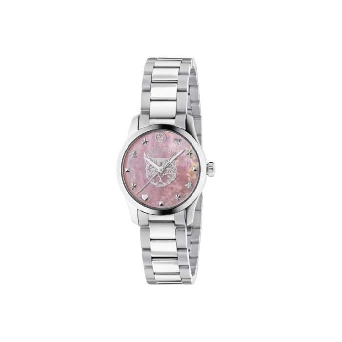 Gucci G-Timeless YA1265013 - Gioielleria Casavola Noci - orologio quadrante rosa - idee regalo donna