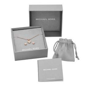 Michael Kors parure MKC1258AN791 - Gioielleria Casavola Noci - idee regalo donne - rosegold - box set completo