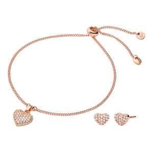 Michael Kors parure MKC1258AN791 - Gioielleria Casavola Noci - idee regalo donne - rosegold - bracciale e orecchini cuore
